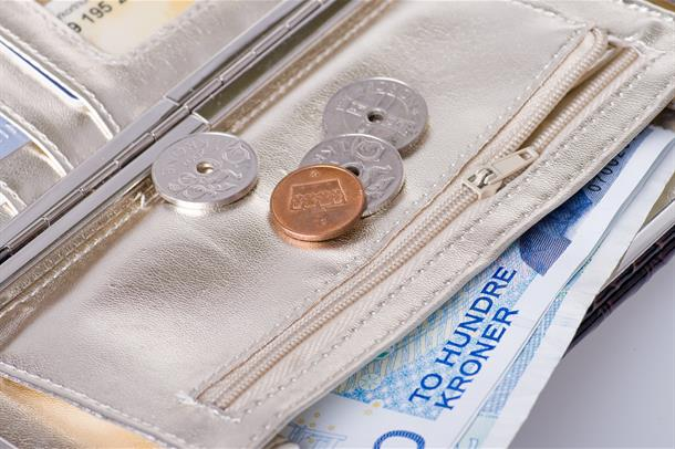 Penger i lommebok