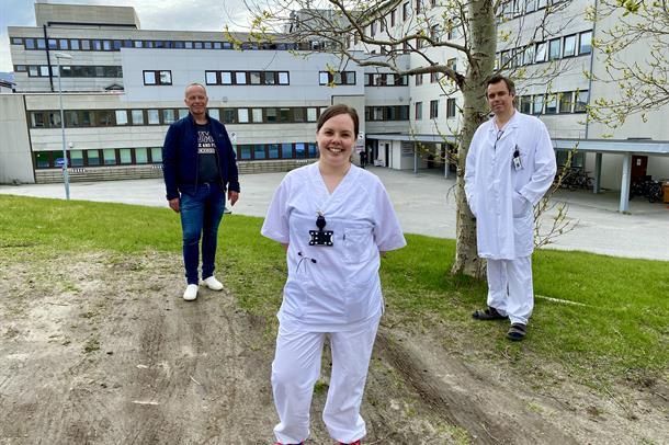 Bilde av Linn Mari Balto sammen med Bjørn Wembstad og Uwe Agledahl.