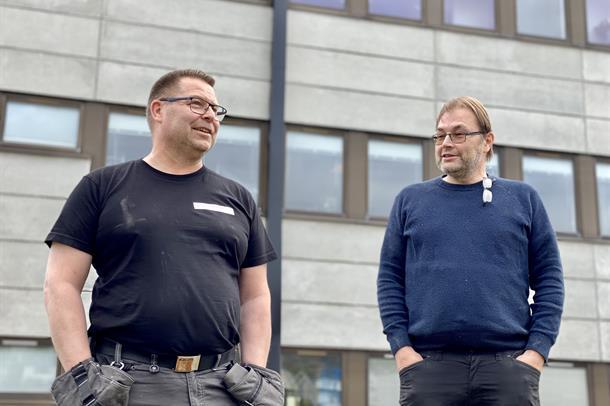 Bilde av Rainer Huemer og Sten Siversen.