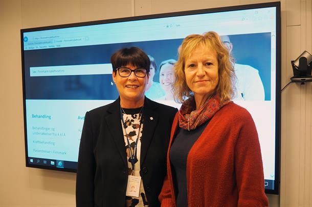 Direktør Eva Håheim Pedersen og fungerende styreleder Gudrun Rollefsen.