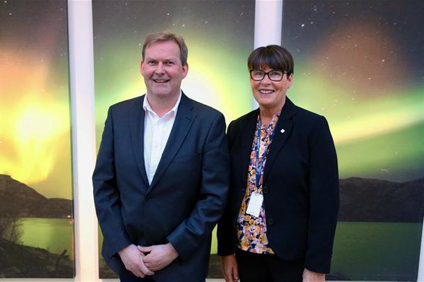 Styreleder Harald Larssen og direktør Eva Håheim Pedersen.