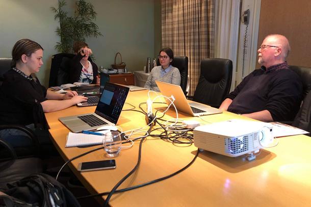 Samarbeidspartnerne prater om e-læring