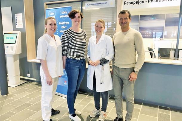 Astrid Helen Mella, Renate Jakobsson, Anne H. Davidsen og Houman Charani i arbeidsgruppen, som har jobbet frem prosedyrer for ba