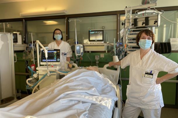 Intensivssykepleiere ved Hammerfest sykehus. Foto: Malene Nicolaysen
